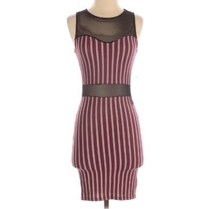 A+ Ellen Bodycon dress Sz Small USA Stripped Red